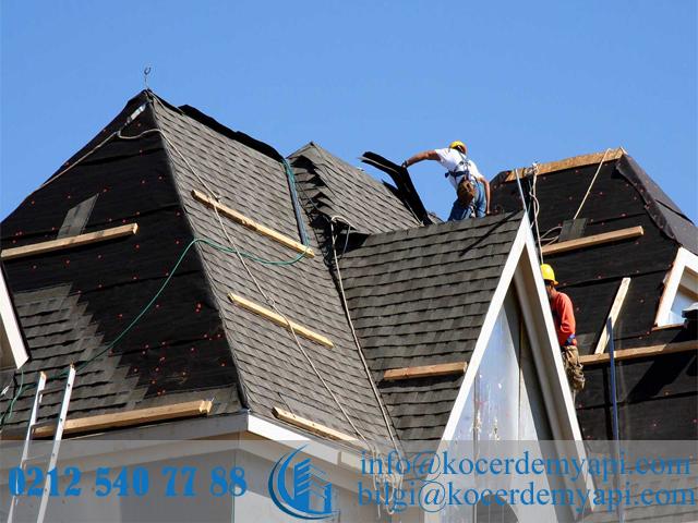 Çatı Aktarma ve Tamiratı işleriminin yapımı